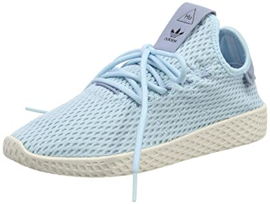 3496cdeab adidas Originals Men's Pharrell Williams Human Race Ice Blue/Ice Blue/Blue  4 D