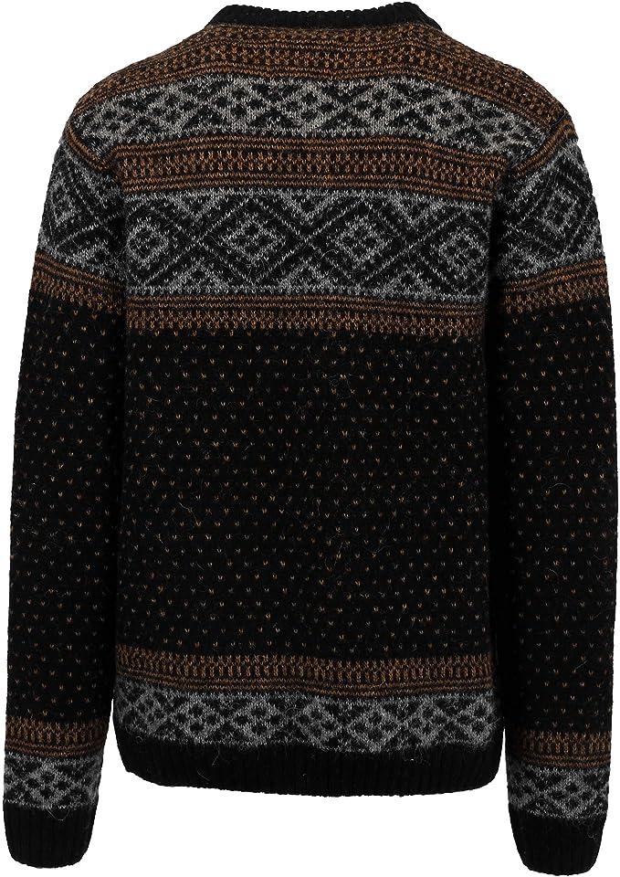 ICEWEAR Pétur Men's Crewneck Sweater Nordic Knit Design 100% Wool Long Sleeve Winters Without Zip Sweater