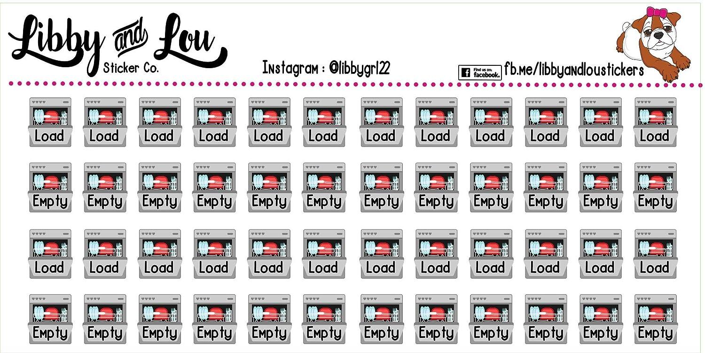 Dishwasher Planner Sticker Calendar Chores Housework Happy Planner Kitchen Agenda Erin Condren