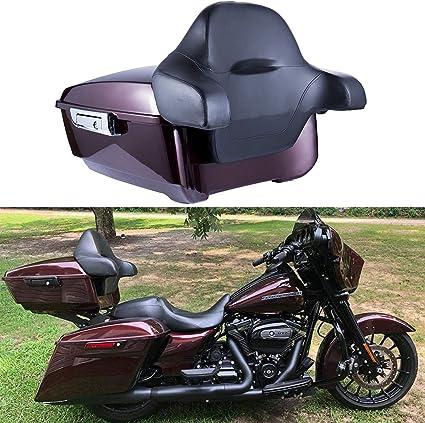 King Tour Pak Pack Trunk w// Backrest Pad For Harley Davidson Touring 2014-2019