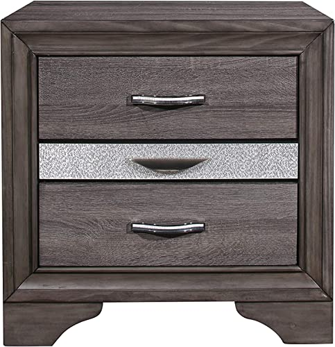 Global Furniture USA Seville Nightstand in Gray