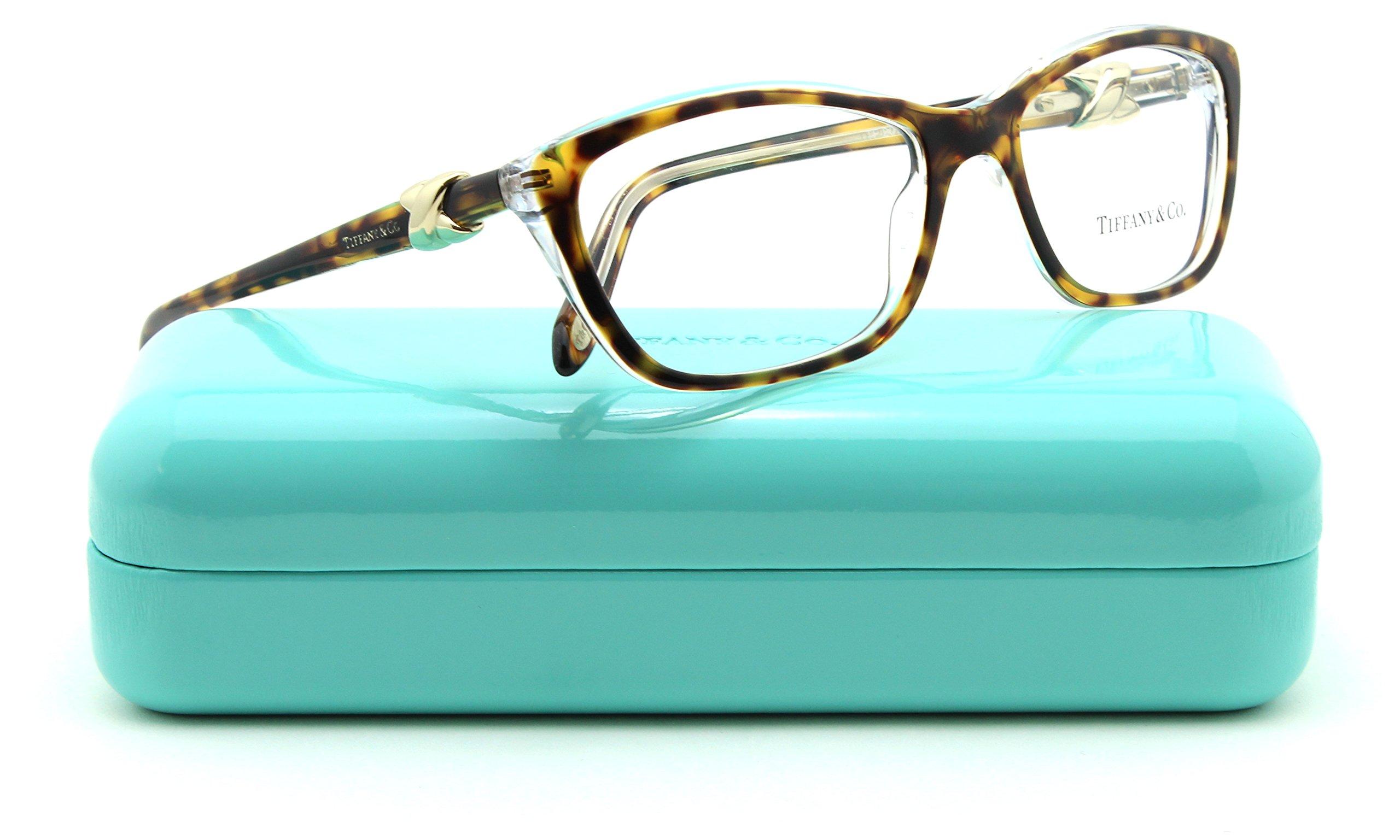 Tiffany & Co. TF 2074 Women Cat-Eye Eyeglasses RX - able Frame (HAVANA/TRANSPARENT 8155, 54)