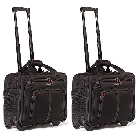 Aerolite 17 quot  Trolley da Viaggio Borse da lavoro Borsa per portatile  con ruote Bagaglio a d21f4751f79