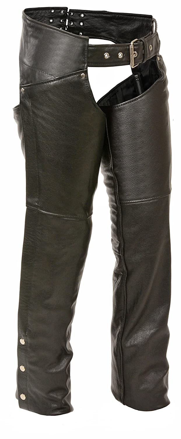 Milwaukee Womens Leather Chaps Black, 4X-Large