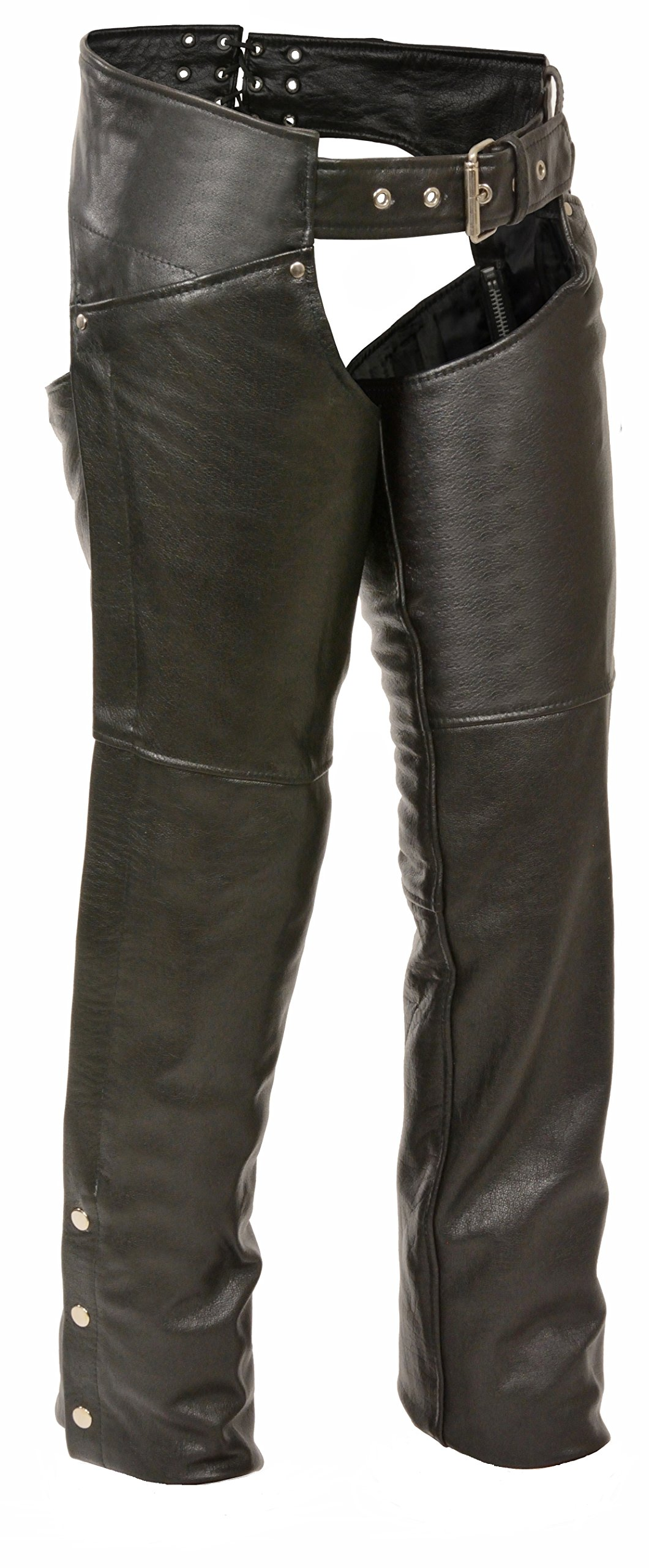 Milwaukee Women's Leather Chaps (Black, 4X-Large)