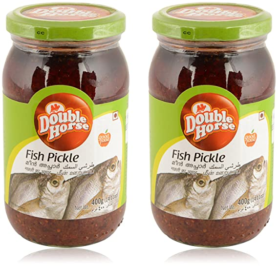 Double Horse Fish Pickle - 400 g (Pack of 2)