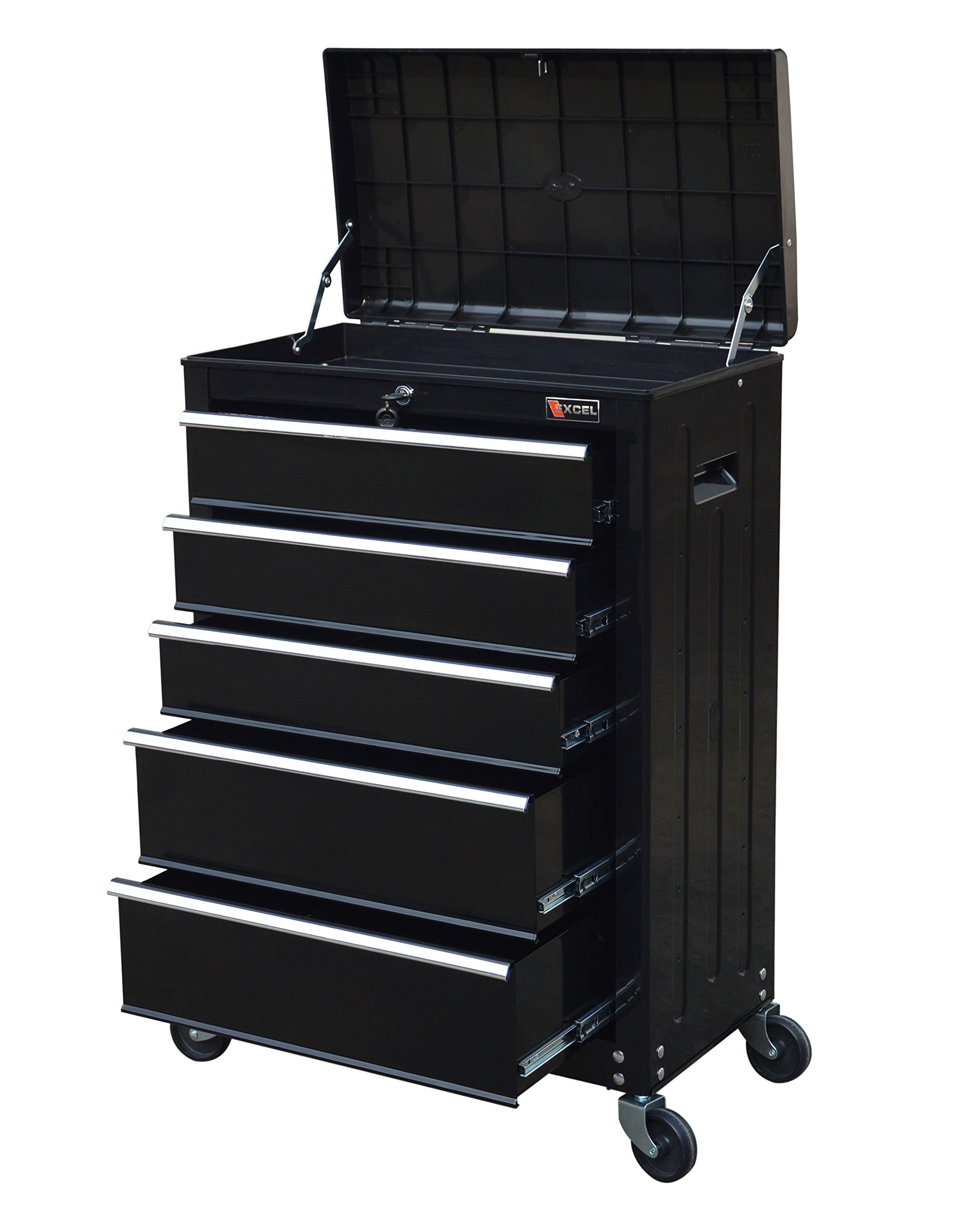 TB3205X-BK Excel 22'' Roller Tool Cabinet with 5 Ball Bearing Drawers, 22in, Black by Excel (Image #1)