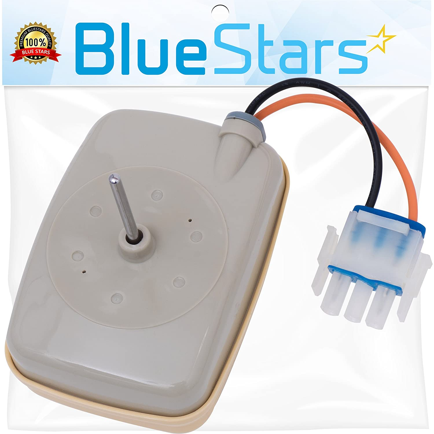 Ultra Durable WR60X10141 Refrigerator Evaporator Fan Motor Replacement by Blue Stars - Exact Fit for GE & Hotpoint Refrigerator - Replaces WR60x10138 WR60x10346 AP5955766 PS10063450 WR60X23584