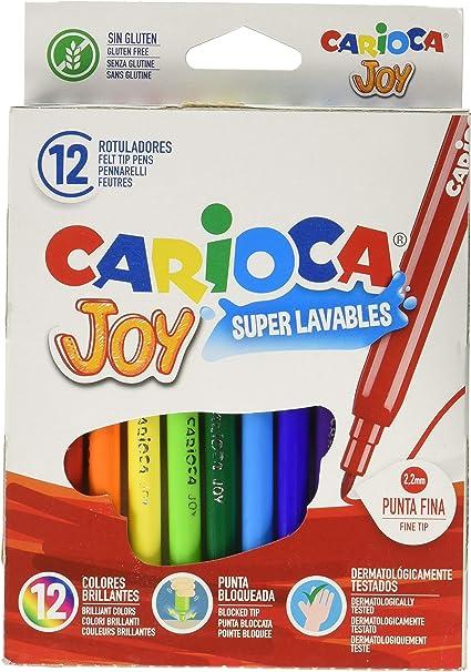 Carioca A11100012 - Pack de 12 rotuladores: Amazon.es: Oficina y ...