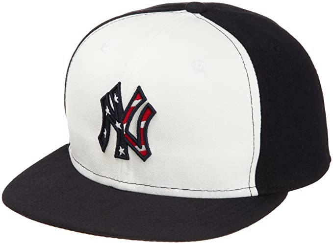 new concept dbd86 fc96d MLB New York Yankees 2011 Stars And Stripes 59Fifty Cap, White Navy, 7