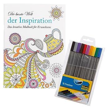 Idena 68153 - Malbuch für Erwachsene, Motiv Inspiration, inklusive ...