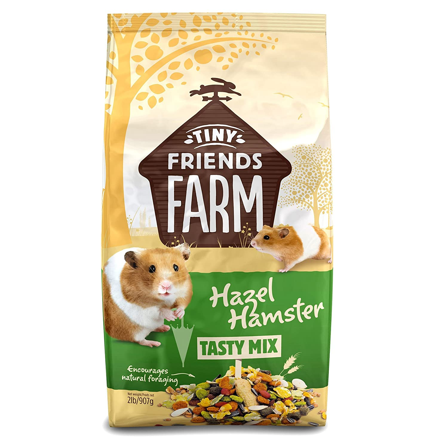 amazon com tiny friends farm hazel hamster tasty mix 2 pounds