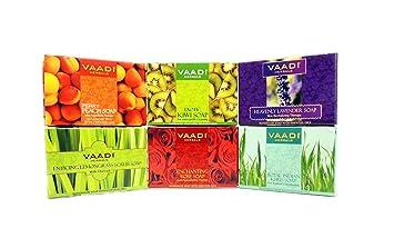 Bath & Body Vaadi Herbals Exotic Flavors Luxurious Handmade Herbals Soaps 75gm pack Of 6 Bar Soaps