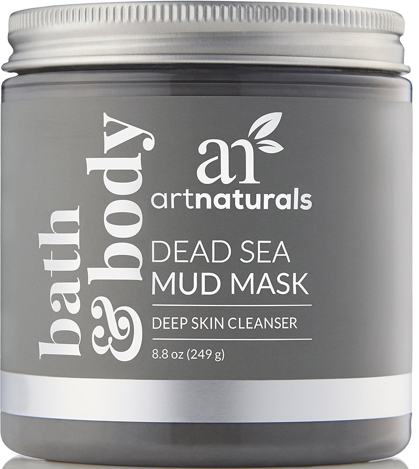 ArtNaturals Dead Sea Mud Mask - for Face, Body & Hair 8.8 oz, 100% Natural and Organic Deep Skin Cleanser - Clears Acne, Reduces Pores & Wrinkles - Ultimate Spa Quality - Mineral Infused Additive Free