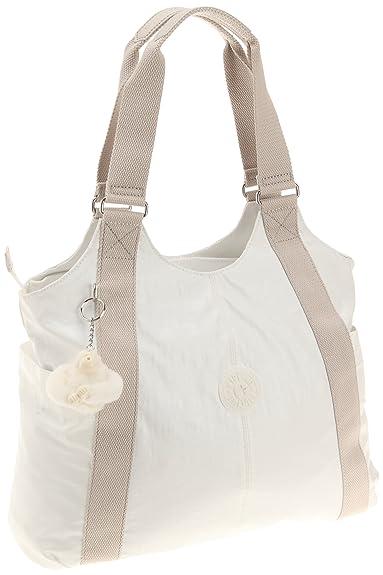 new authentic 2019 original select for latest Kipling Cicely, Women's Shoulder Bag, White, 43x36x13 cm (B ...