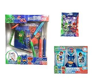 PJ Masks Bath Time Color and Play Bundle for Kids with BONUS Season 2 Blind Bag