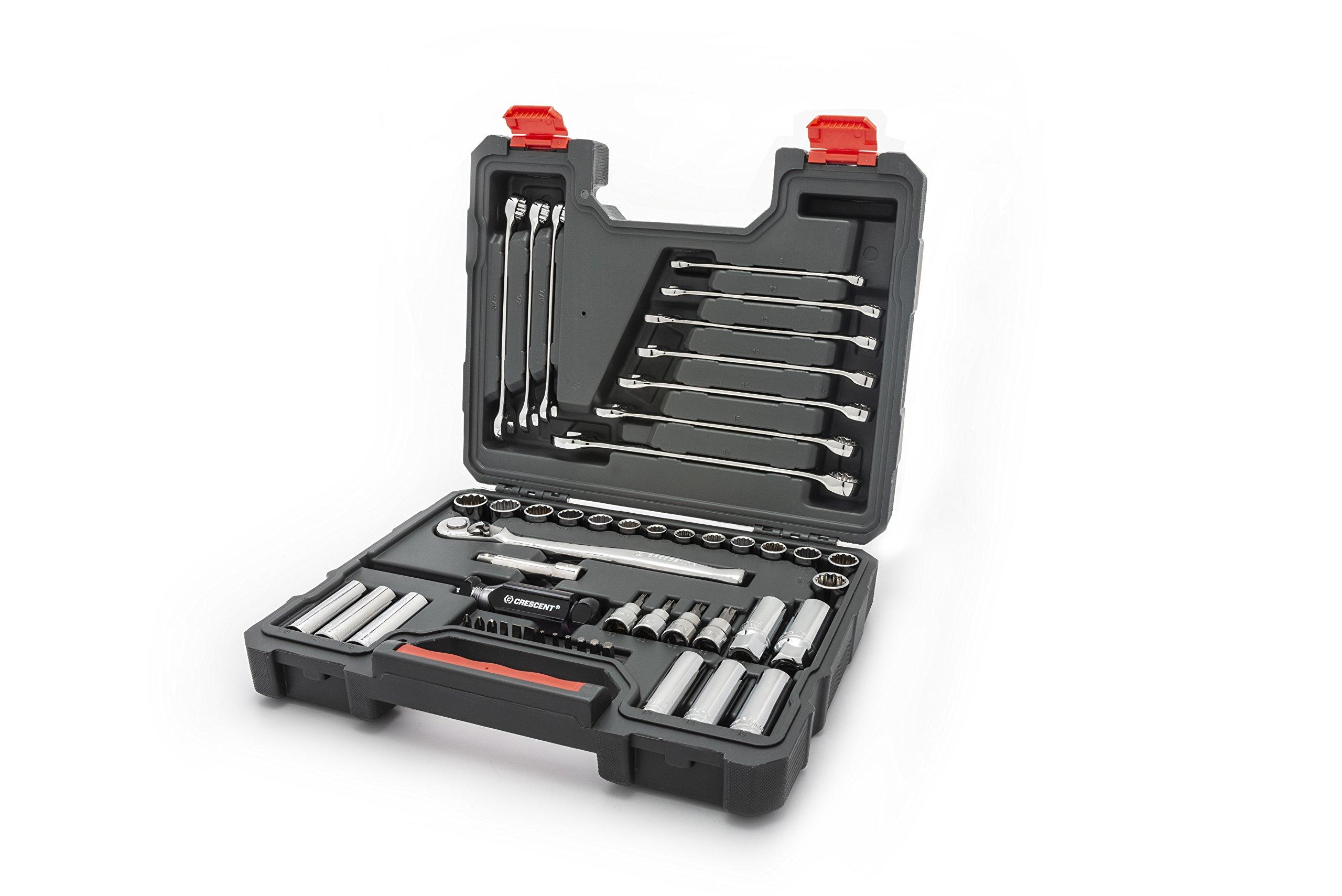 Crescent CTK51 51Piece Mechanics Tool Set, SAE & Metric