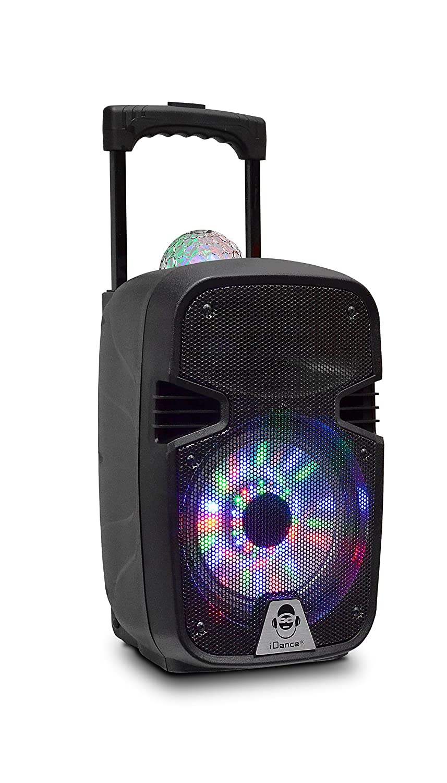 iDance Groove 215 100W Negro - Altavoces portátiles (20,3 cm, 100 W, Inalámbrico y alámbrico, Negro, Rectángulo, Bluetooth, (ABS)) GR215