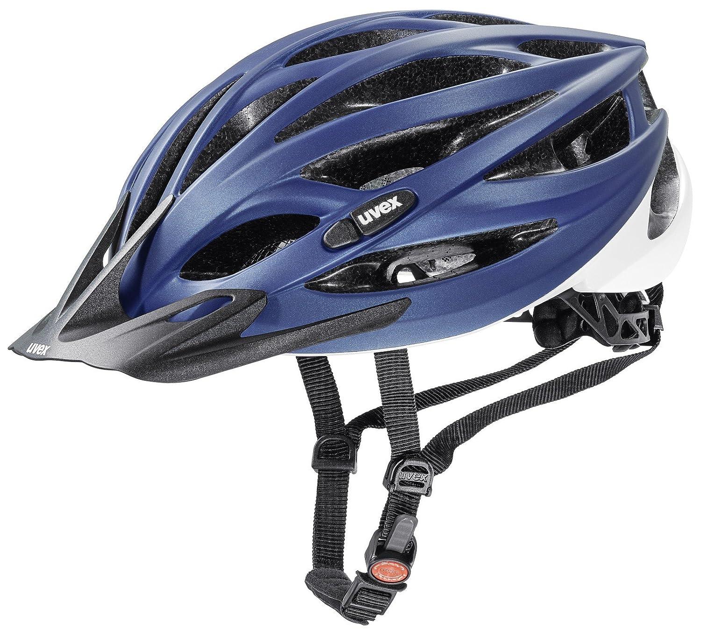 uvex oversize XXL Fahrradhelm blue white mat