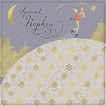 twizler Happy Christmas Karte für Neffen mit Gold folieren ...