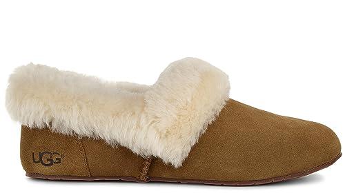 UGG - Zapatillas de Estar por casa de Piel para Mujer Beige marrón, Color Beige, Talla 38: Amazon.es: Zapatos y complementos