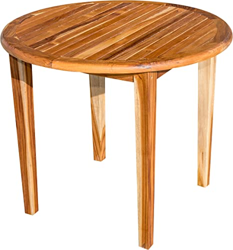 EcoDecors Oasis Round Teak Dining Table Indoor Outdoor