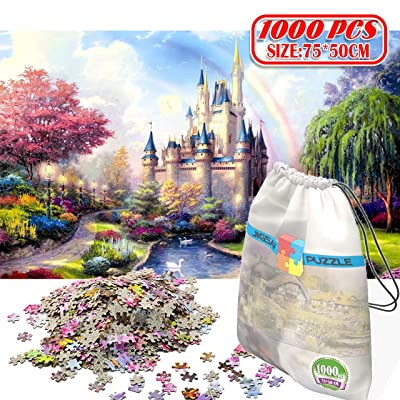 Kvvdi Picture Jigsaw Puzzles for Adults 1000 Piece, 29x19 inch, Fantasy Castle: Toys & Games