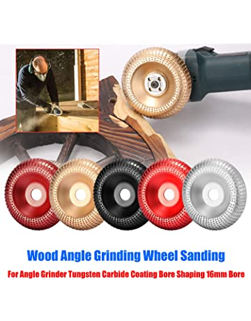 Angle Grinder Abrasive Disc for Shaping /& Polishing Black Tungsten Carbide Wood Sanding Carving Tool TOPAUP Wood Carving Disc for Angle Grinder Wood Grinding Wheel