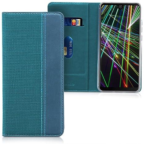 kwmobile Wiko View 2 Cover - Custodia a Libro in Simil Pelle PU per Smartphone Wiko View 2 - Flip Case Protettiva