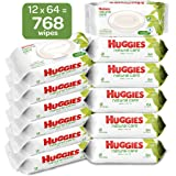 HUGGIES Natural Care Baby Wipes, 12 Packs, 768 Total Wipes