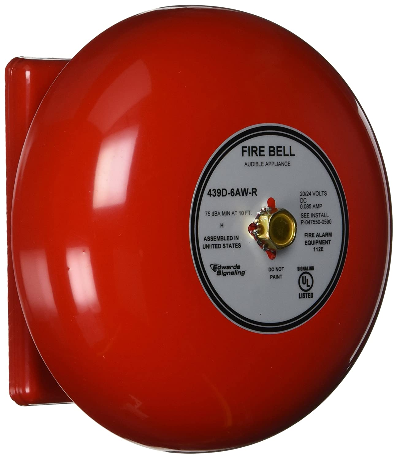 6 in. Red Edwards Signaling Fire Bell