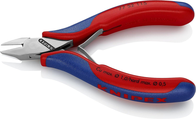 KNIPEX 77 52 115 Pince coupante de c/ôt/é pour l/électronique avec gaines bi-mati/ère 115 mm