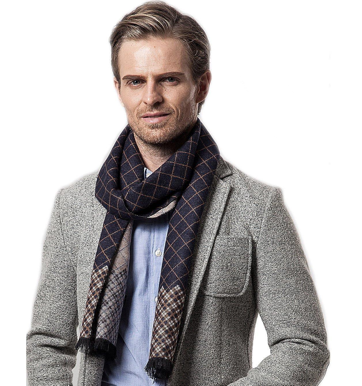 Bufanda de Hombre la tela escocesa cozy Abrigo Del Mantón cuello bufanda Regalos para Hombre