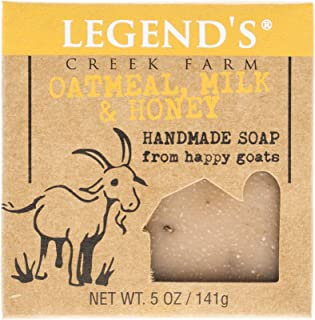 product image for Legend's Creek Farm, Goat Milk Soap, Creamy Lather and Nourishing, Handmade in USA, 5 Oz Bar (Oatmeal, Milk & Honey O.S.)
