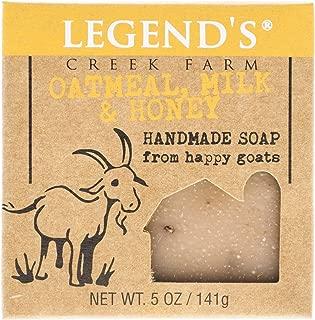 product image for Legend's Creek Farm, Goat Milk Soap, Creamy Lather and Nourishing, Handmade in USA, 5 Oz Bar (Oatmeal, Milk & Honey O.S.)