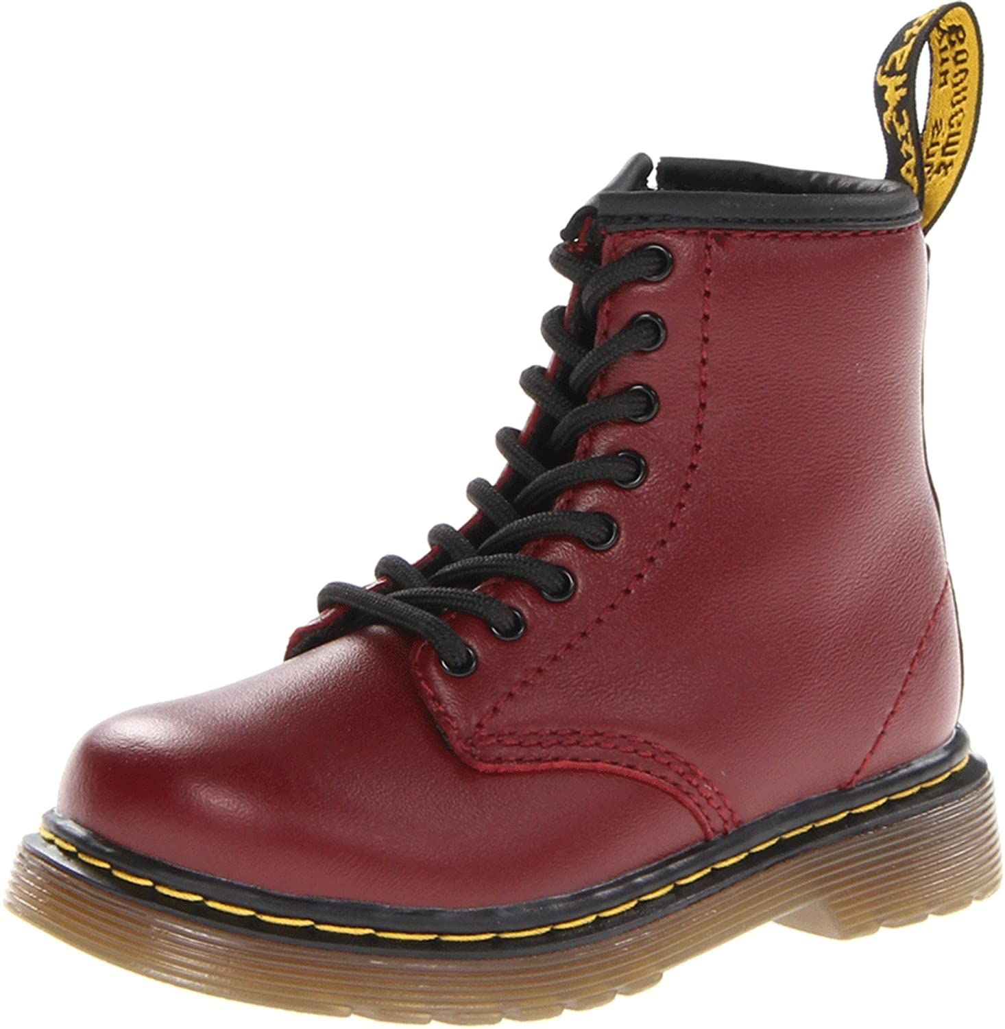 Dr Martens INFANTS Softy T CHERRY RED Zapatos con cordones de cuero