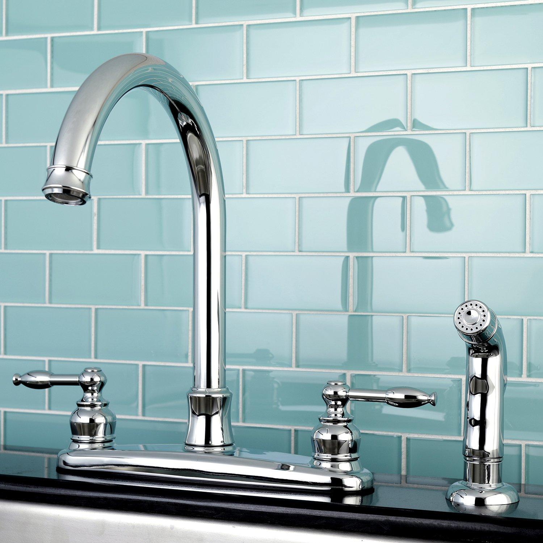 Kingston Brass FB7795PXSP Victorian 8-inch Centerset Kitchen Faucet ...