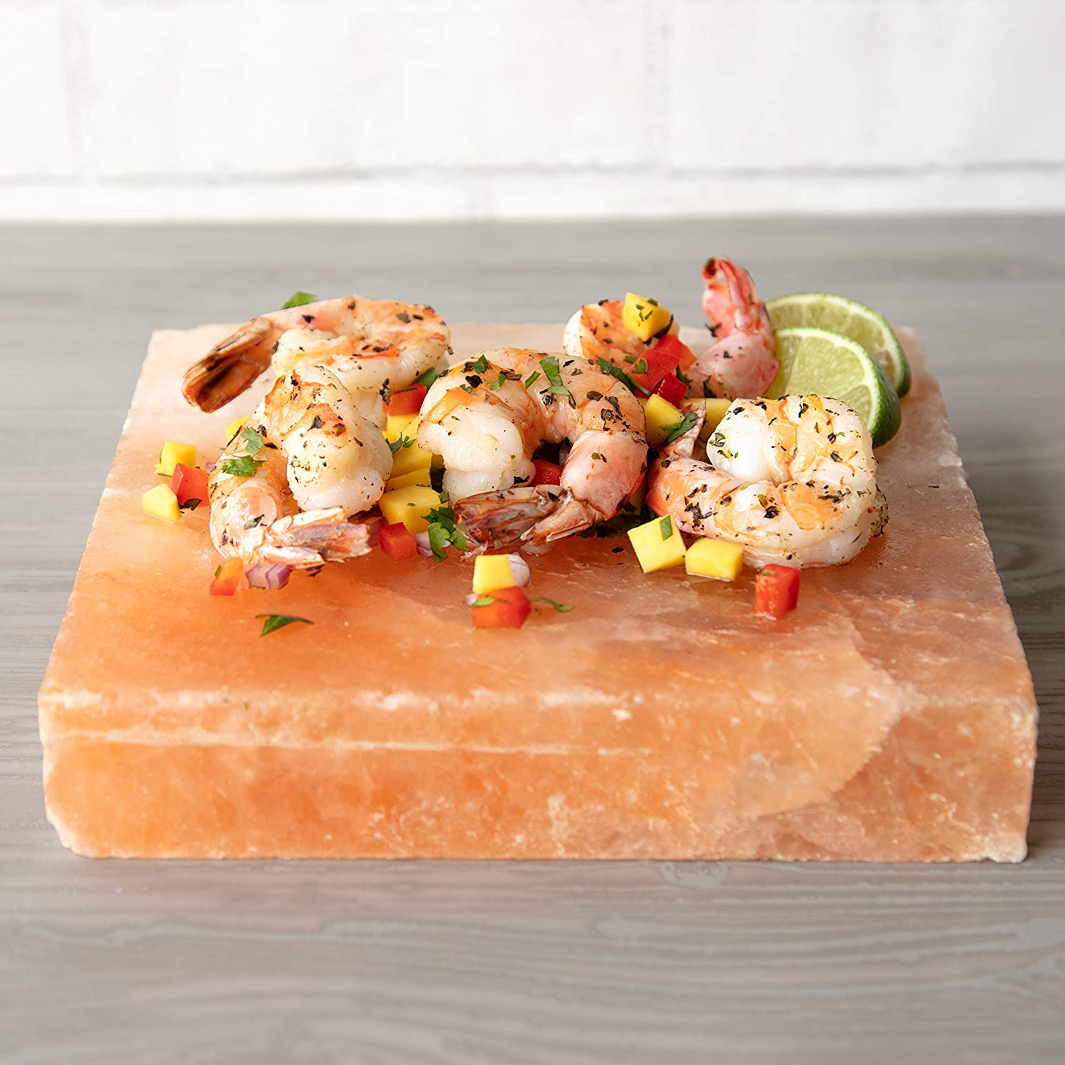 """Himalayan Pink Salt Slab Block for BBQ Grilling (Large 8"""" x 8"""")- FDA Approved Barbecue Cooking Grilling Stone Plate- Pure, All Natural (Packaging May Vary) : Garden & Outdoor"""