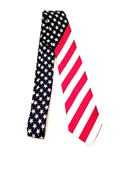 c13ed392853 Image Unavailable. Image not available for. Color  American Flag Men s Neck  Tie USA Patriotic NeckTie NEW