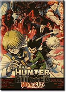 "Hunter X Hunter Anime Poster and Prints Canvas Wall Art Gifts Decor Wall Art Pictures Canvas HD Printed Anime Painting Framed Poster Modern Home Decor Room (12""x18"", Artwork-08)"