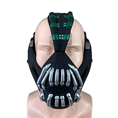 Jacos Bane Mask Men Batman Mask Cosplay Half Mouth Head Halloween Costume Props: Toys & Games