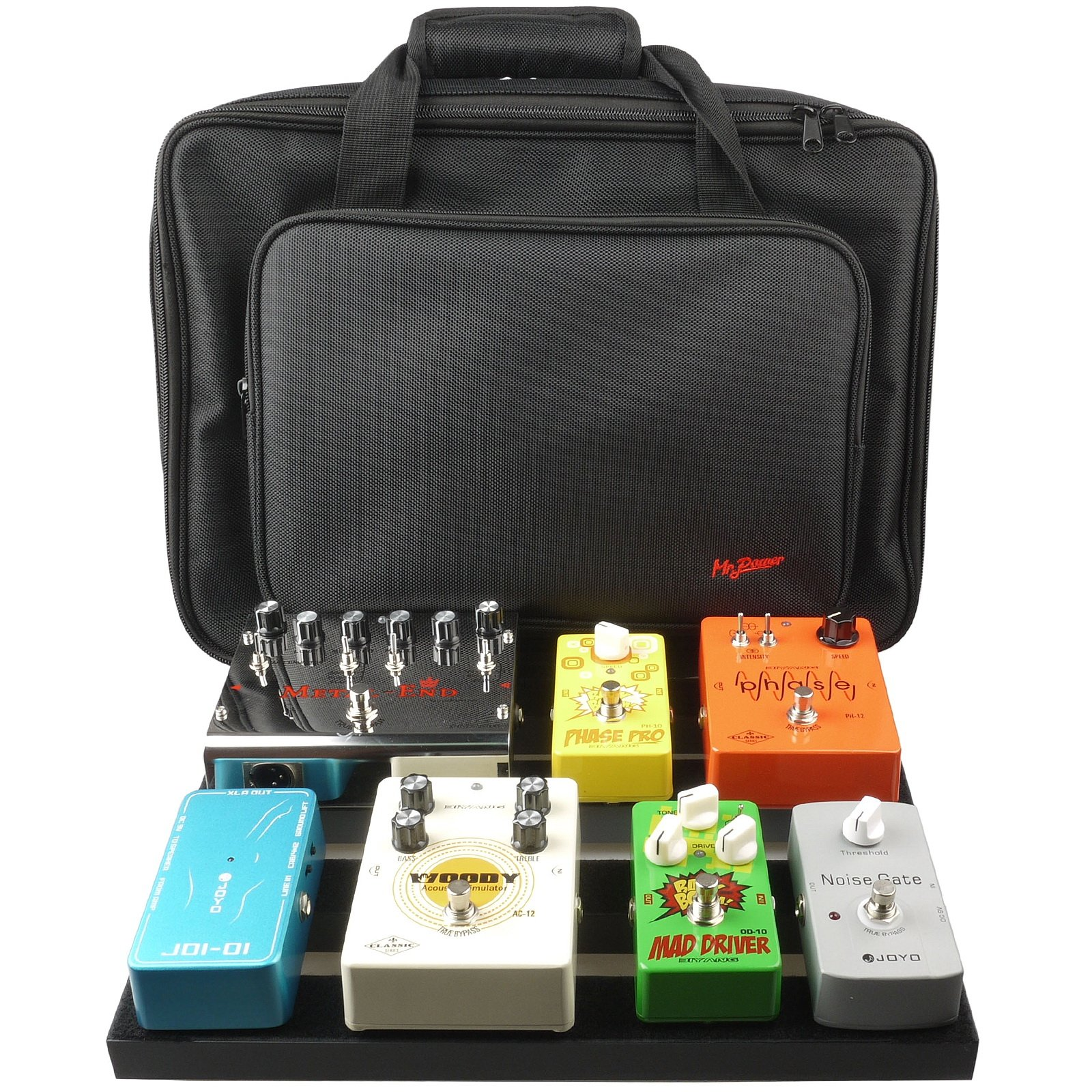 Mr.Power Pedalboard With Carry Bag Made By Aluminium Alloy (16inch-WithBag)