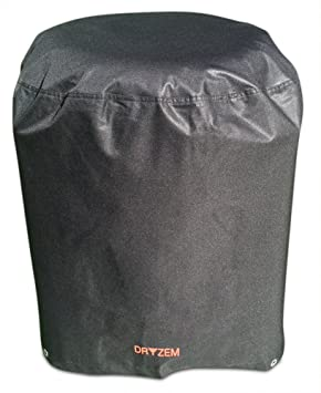 Funda para parrilla de barbacoa resistente al agua, poliéster 600D con revestimiento de PVC (redondo), con bolsa de almacenamiento, de la marca Dryzem: ...