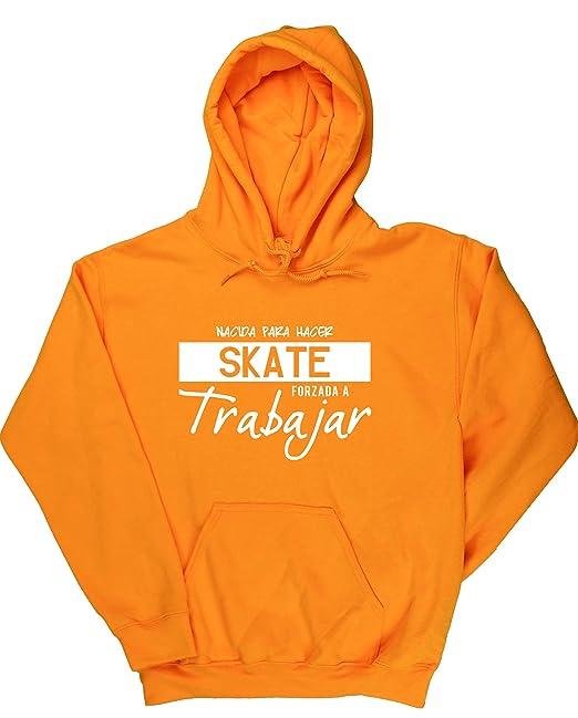 HippoWarehouse NACIDA PARA HACER SKATE FORZADA A TRABAJAR jersey sudadera con capucha suéter derportiva unisex