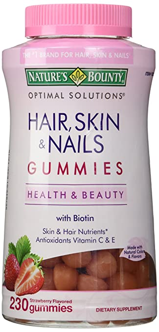 Amazon.com: Nature\'s Bounty Hair Skin and Nails, 230 Gummies: Beauty
