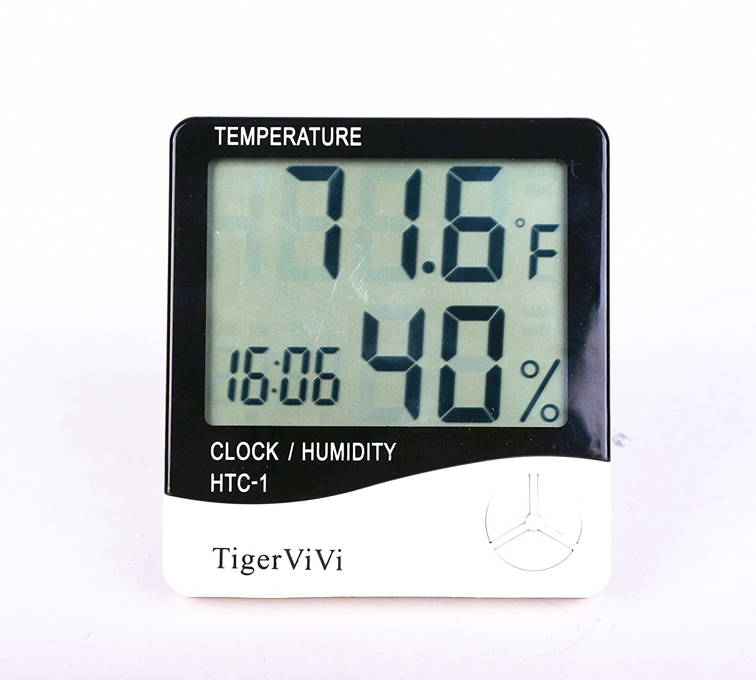 TigerViVi LCD Digital Display Thermometer Hygrometer Indoor Electronic Temperature Humidity Meter Clock Weather Alarm Clock FBA_B01IGOOQ8S