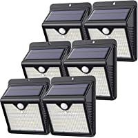 【6 Paquete】150 LED Luz Solar Exterior, Feob Súper Brillante Foco Solar Exterior con Sensor de Movimiento, 180…