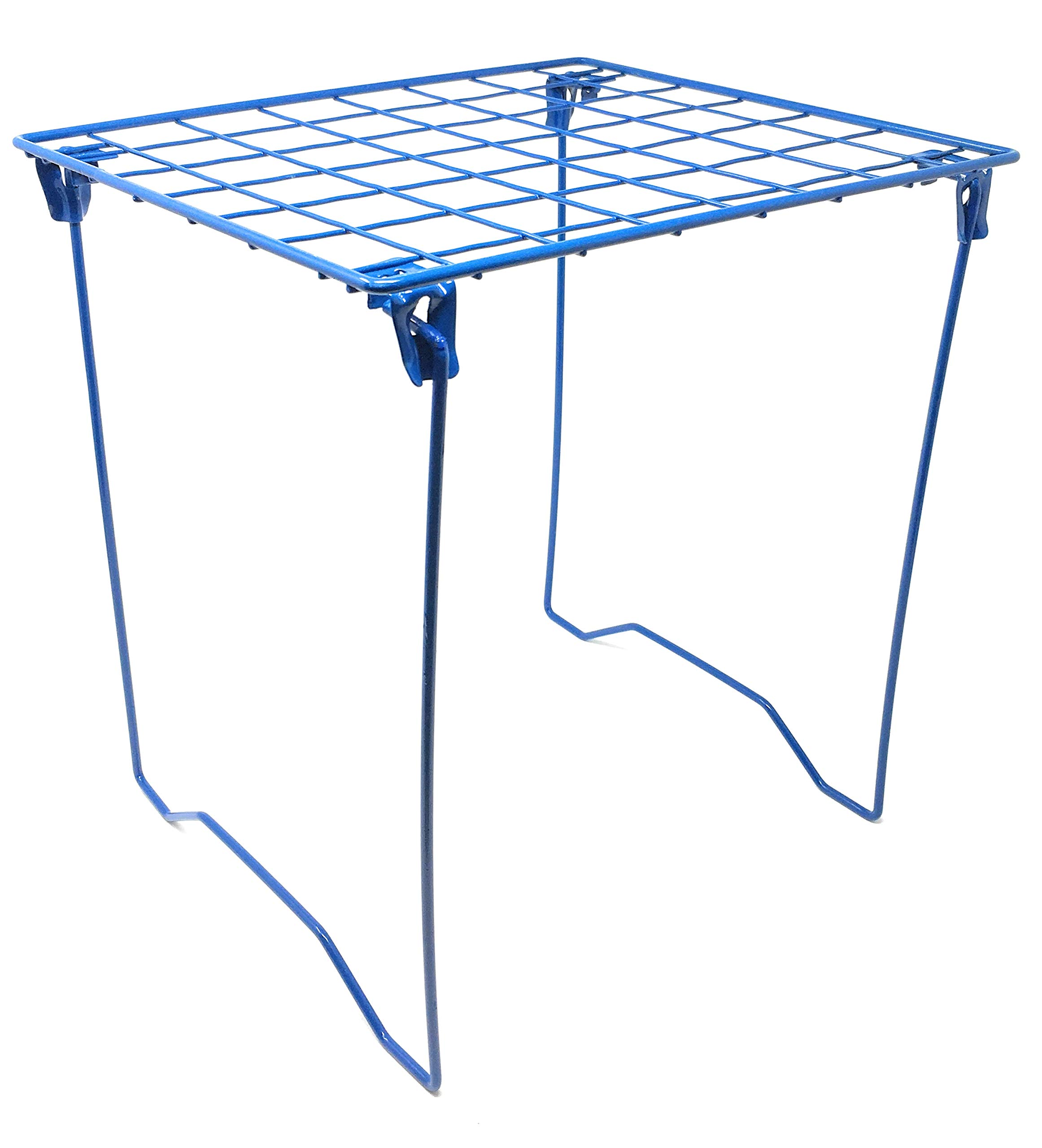 Bright Blue Locker Shelf - Foldable Stac Mate Shelf for Office, Home or School