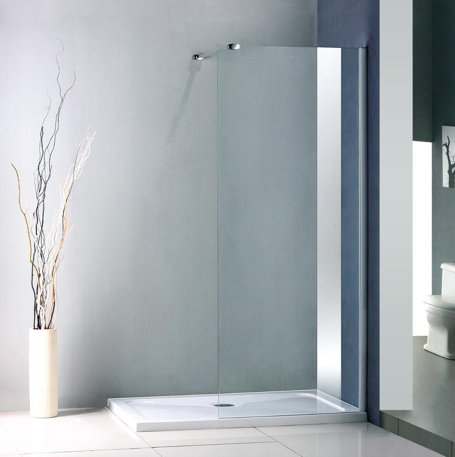 Walk In Shower Enclosure 1800 X 900 Mm Walk In Shower Enclosure Stone Tray Amazoncouk