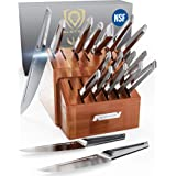 DALSTRONG - 18pc Knife Block Set - Crusader Series - Forged Thyssenkrupp High-Carbon German Stainless Steel - w/Magnetic Shea